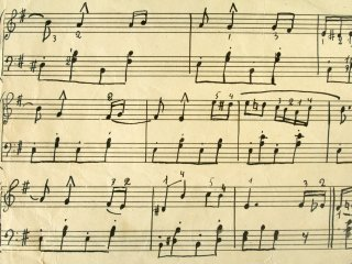 Hand written sheet music
